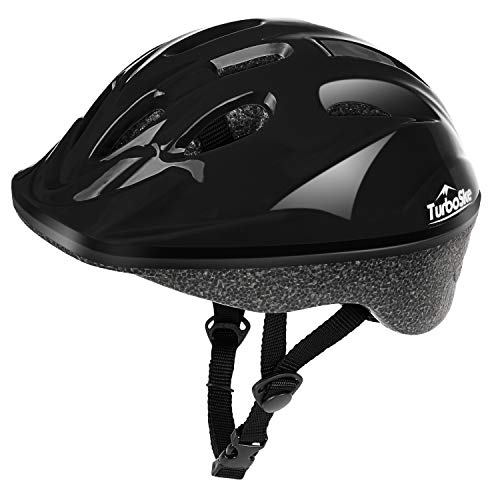 TurboSke Child Helmet, Kid's Multi-Sport Helmet (Gloss Black)