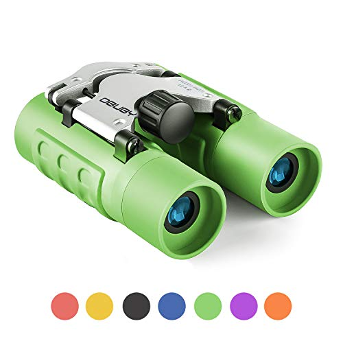 Binoculars for Kids Best Gifts for 3-12 Years Boys Girls 8x21 High-Resolution Real Optics Mini Compact Binocular Toys ShockProof Waterproof Folding Small Telescope for Bird Watching,Travel, Camping