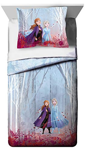 Jay Franco Disney Frozen 2 Forest Spirit Twin/Full Comforter & Sham Set, Mutli