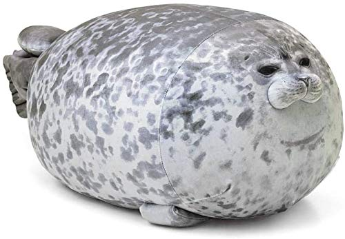 AOLIGE Chubby Blob Seal Pillow Soft Fat Hugging Pillow Stuffed Cotton Animal Plush Throw Pillows Gift (13 inches)