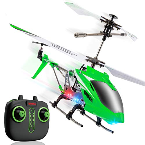 Syma Wind Hawk Remote Control Helicopter - Indoor RC Helicopter with Altitude Hold, LED Lights, Extended Flying Range, Multiple Flying Speeds for Adults and Kids, Includes Rechargeable Battery (Green)