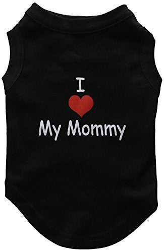 Mirage Pet Products 12-Inch I Love My Mommy Screen Print Shirts for Pets, Medium, Black