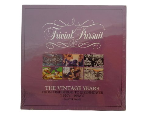 Parker Brothers Trivial Pursuit The Vintage Years 1920's-1950's