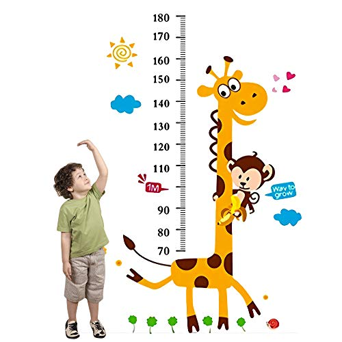 Height Growth Chart Wall Sticker, Outivity Peel and Stick Removable Wall Stickers for Kids Nursery Bedroom Living Room