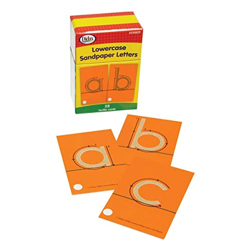 Didax Educational Resources Tactile Cards, Pack of 28 Sandpaper Letters, Lowercase, 4-1/4 X 2-5/8 in, Multi-Colored