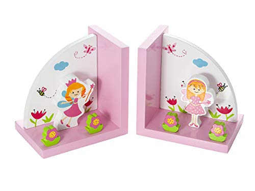 Kids Fairies Home Decor Themed Fairy Bookends for Girls Nursery or Bedroom