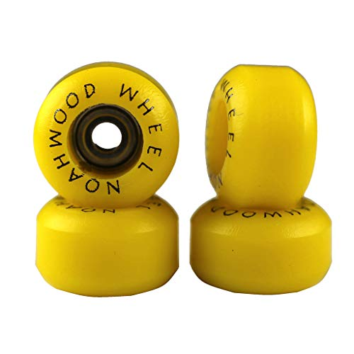 NOAHWOOD Fingerboards PRO Wheels(PRO Bearing 4Pcs/Set) (Yellow, II)