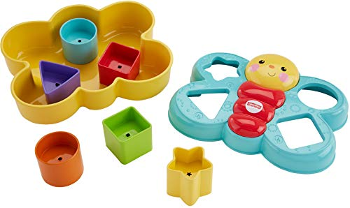 Fisher-Price Butterfly Shape Sorter, Six chunky, colorful shapes to sort – and help baby's fine motor skills take flight!