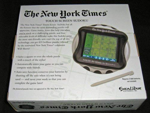 Excalibur NY53 The New York Times Executive Touch Screen Sudoku