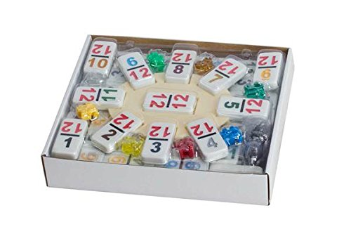 CHH Double 12 Professional Mexican Train Dominoe Set with Numeral Tiles