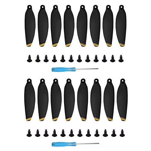 Helistar 16Pcs 4726F Propellers Foldable Low Noise Blades Compatible with DJI Mavic Mini Drone, Golden