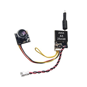 AKK A5 5.8Ghz 25mW FPV Transmitter 600TVL CMOS Micro Camera Support OSD Switchable Raceband�for Quadcopter Drone Like Tiny Whoop Blade Inductrix
