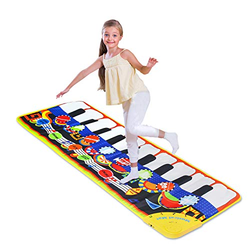Piano Musical Mat,Giant Educational Pre-Kindergarten Toys,19 Keys Keyboard Floor Mat ( Size 43inch � 14inch )-------with Volume Control