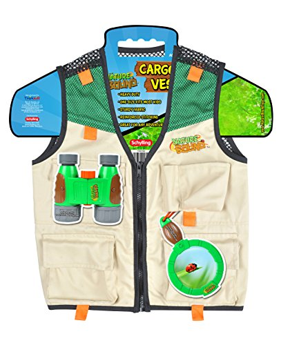 Nature Bound Cargo Vest for Kids with Zipper, 4 Pockets, and Durable Stitching