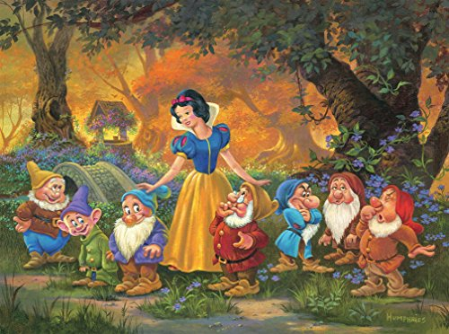 Ceaco Disney Fine Art Snow White Among Friends Jigsaw Puzzle, 1000 Pieces