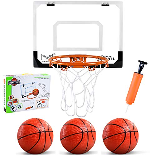ZNCMRR Indoor Mini Basketball Hoop with 3 Balls, 16