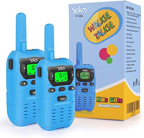 Walkie Talkies, Camping Gear, 2 Way Radio 3 Miles (Up to 5Miles) FRS/GMRS Handheld Mini Walkie Talkies for Outdoor Activities, Toys for 4-5 Year Old Kids