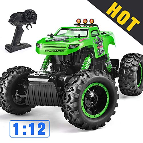 Remote Control Trucks Monster RC Car 1: 12 Scale Off Road Vehicle 2.4Ghz Radio Remote Control Car 4WD High Speed Racing All Terrain Climbing Car Toys Car Gift for Boys 茂录聢Green茂录聣