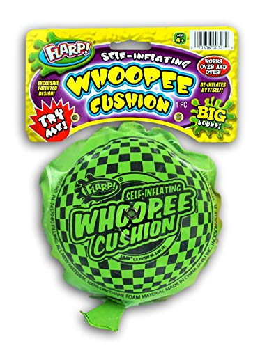 JA-RU Whoopee Cushion Self Inflating Flarp Original (Pack of 1) Kids and Adult Fart Toy | Prank Gag Self-Inflating. Whoopie Makes Gas Sounds Item #327-1A