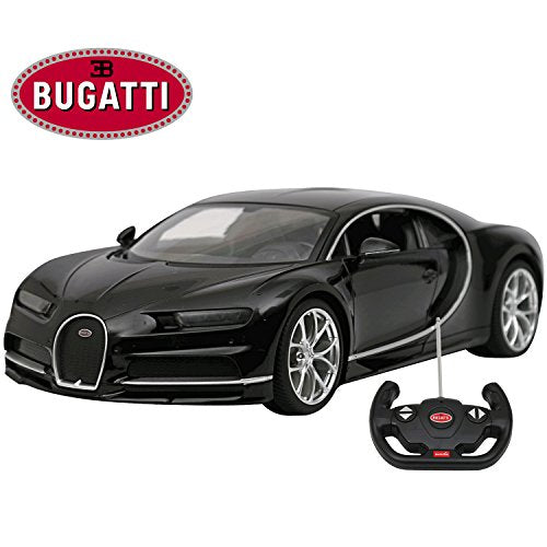 Modern-Depo Licensed Bugatti Chiron RC Car 1/14 Scale Black | Rastar Radio Remote Control Toy Vehicle Sport Racing Car