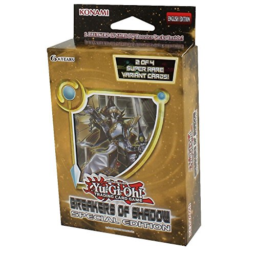 YuGiOh Breakers of Shadow Booster Box: Special Edition Mini Box - 3 packs + 2 holos