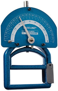 Baseline Smedley Spring Adjustable Handle Hand Dynamometer with Carry Case for Precision Measurement of Hand, Grip and Forearm Strength, 0 to 110 lbs. Force Range