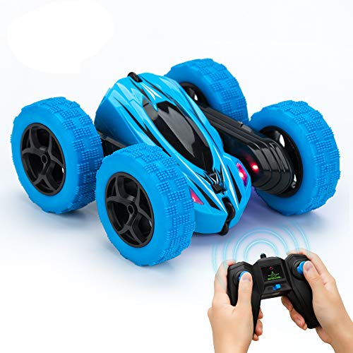 RC Cars for Kids KOOWHEEL Remote Control Car 360 Rotating 4WD Off Road Double Sided Rotating Tumbling - 2.4Ghz High Speed Rock Crawler Vehicle with Headlights Children Birthday Gifts RC Car for Kids