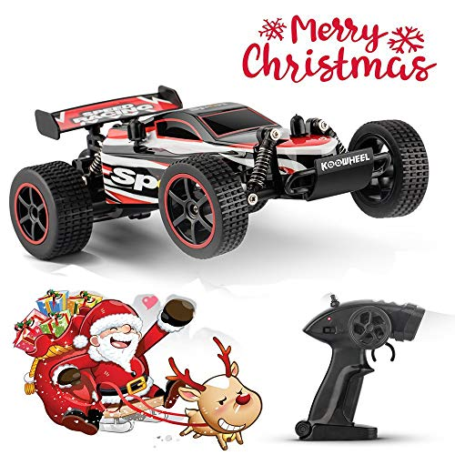 RC Cars KOOWHEEL 1:20 Scale 2WD Off Road Remote Control Cars with Rechargeable Battery 2.4GHz Radio Remote Control Truck Monster High Speed Crawler USB Charger RC Car for Adults and Kids(Red)