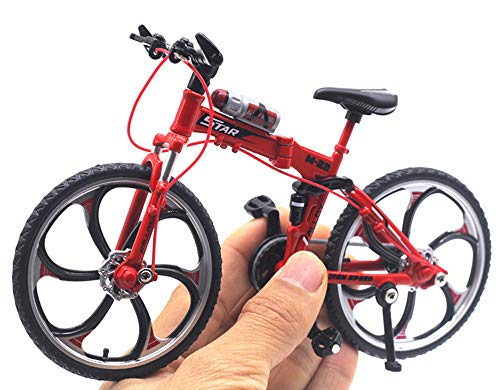 HAPTIME 6.92 inch Zinc Alloy Racing Bicycle Mountain Bike Mini Bicycle Model Cool Toy Decoration Crafts for Home