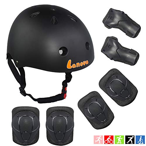Lanova Toddler Helmet Kids Knee Pads for 2-8 Years Toddler Youth Bike Skateboard Helmet Knee Elbow Wrist Pads for Roller Bicycle Bike Skateboard and Other Extreme Sports Activities