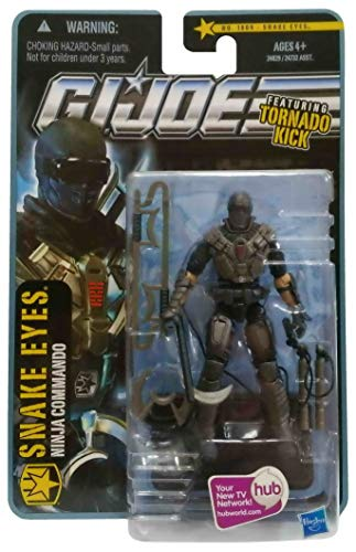 G.I. Joe Pursuit of Cobra (POC) Snake Eyes (Ninja Commando) with Tornado Kick 3.75 Inch Action Figure