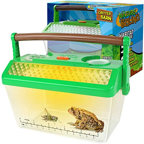 Nature Bound Bug Catcher Critter Barn Habitat for Indoor/Outdoor Insect Collecting with Light Kit