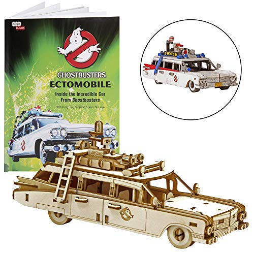 IncrediBuilds Ghostbusters: Ectomobile Book and 3D Wood Model Figure Kit - Build, Paint and Collect Your Own Ecto-1 Model Toy - Kids and Adults,12+ - 6