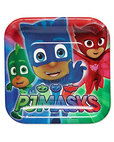 American Greetings PJ Masks Paper Dessert Plates, 8-Count