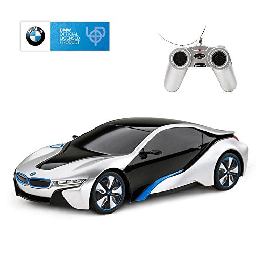RASTAR BMW i8 RC Car BMW i8 1/24 Remote Control Car, BMW Toy Car - Silver