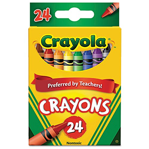 Binney & Smith Crayola(R) Standard Crayon Set, Tuck-Box, Assorted Colors, Box Of 24in.