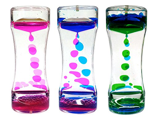 Liquid Timer 3 Pack Sensory Fidget Toy, Multi-Colored Desk Toy by Playlearn (Single)