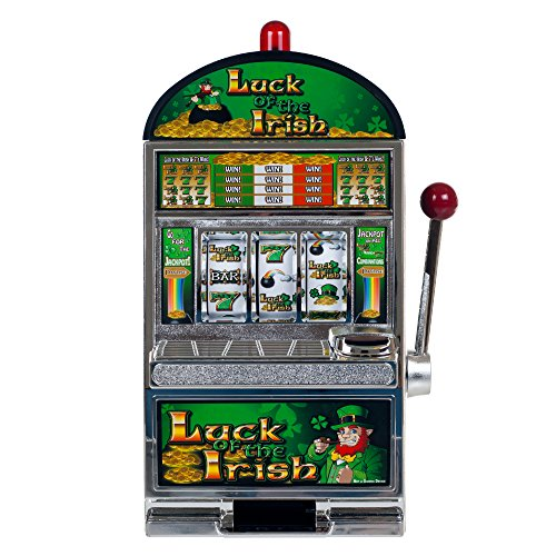 Trademark Poker RecZone Luck of The Irish Slot Machine Bank, 15-Inch