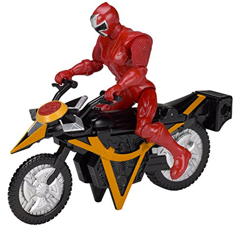 Power Rangers Ninja Steel Power Rangers Mega Morph Cycle with 5-Inch Red Ranger Figure