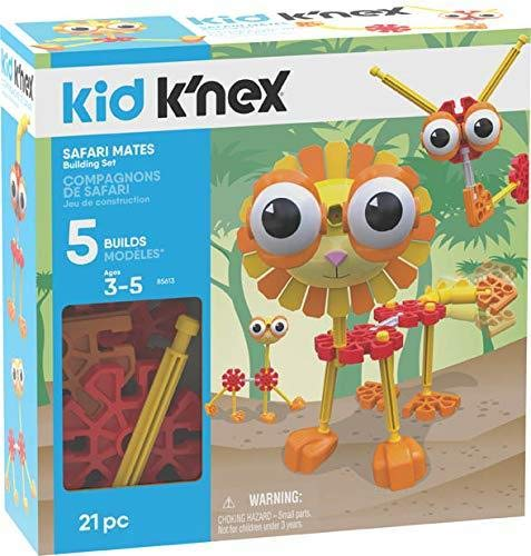K'NEX Kid Safari Mates Building Set - 21 Pieces - Ages 3+ - Preschool Educational Toy