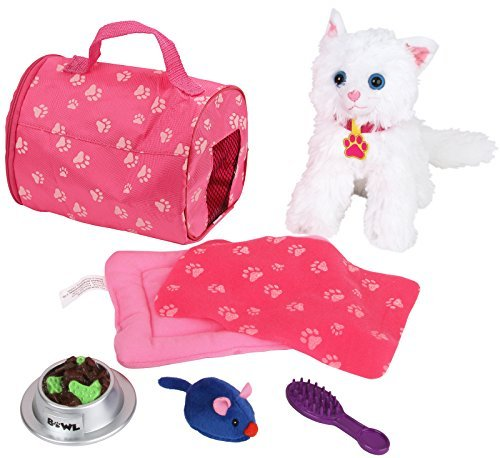 Click N' Play 8 Piece Doll Kitten Set and Accessories. Perfect for 18 inch American Girl Dolls