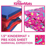 "KinderMat, KinderBundle, Includes 1.5"" and PBS Kids Full Cover Sheet, Narwhal Expedition, Regular"