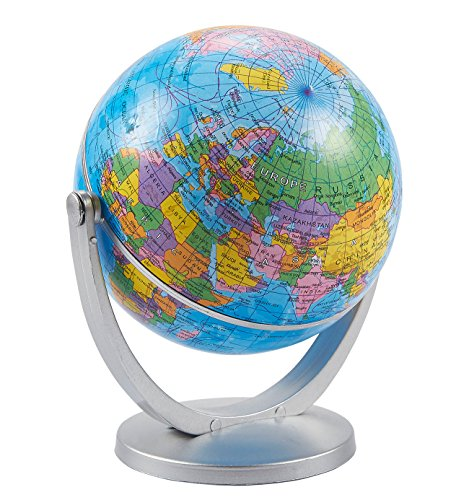 Juvale Small World Globe for Office Desktop (5 Inches)