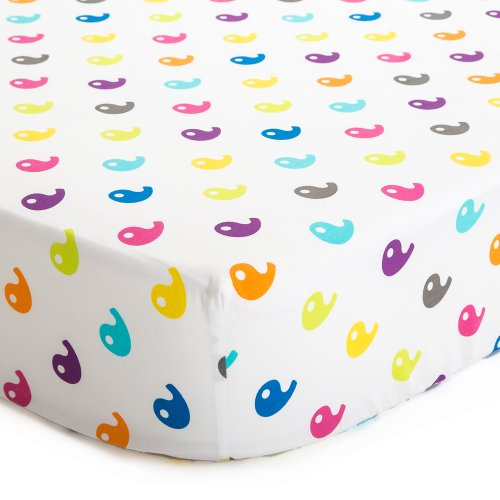 baby deedee 100% Cotton Fitted Crib Sheet, for Standard Cribs and Toddler Beds