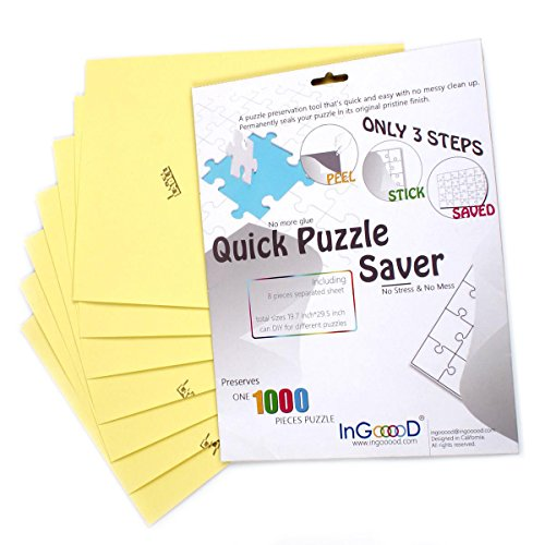 Ingooood-Puzzle saver- Sheet Peel - Preserve and Hang Your Jigsaw Masterpiece Without Hassle - Easily Frame Most Boards With a Strong Adhesive the Best Way to Preserve Your Finished Puzzle(Sheet Peel)