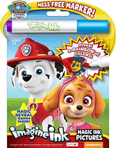 Bendon Nickelodeon PAW Patrol 24-Page Imagine Ink with Mess Free Marker 38709