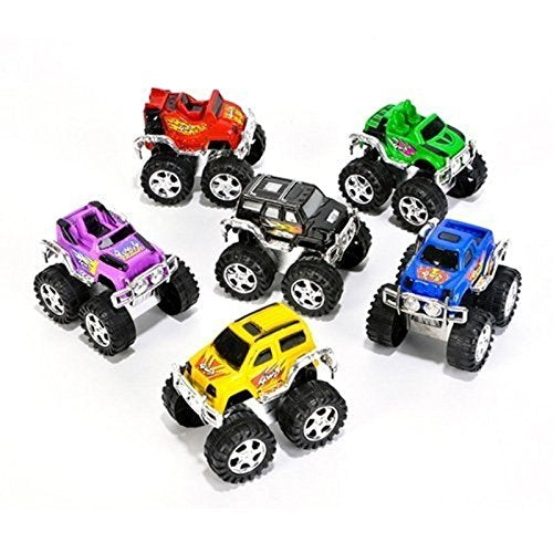 Small Toys Monster Pullback Trucks (Pack of 48) (Discontinued by Manufacturer)