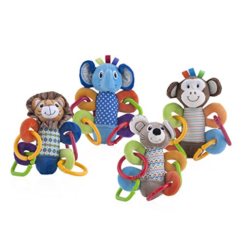 Nuby Squeeze N' Squeak Plush Toy, Characters May Vary, Styles May Vary, 3 Month Plus