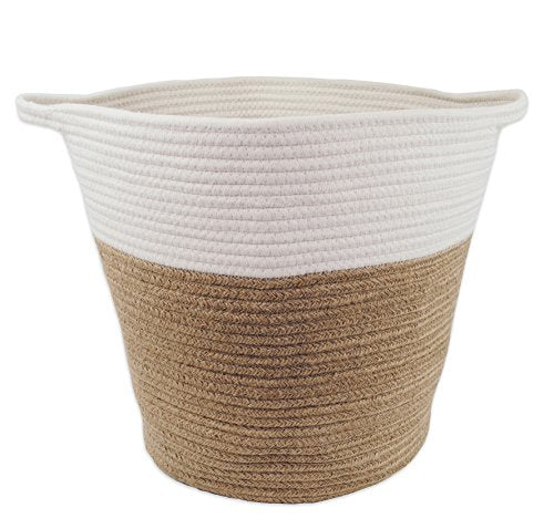 Large Woven Jute Cotton Rope Storage Basket 16