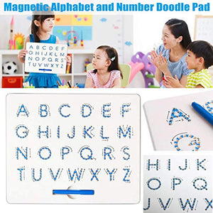 Magnetic Alphabet Letter Tracing Board - STEM Educational Learning ABC Letters Kids Drawing Board with Stylus Pens- Best Gift for Boys and Girls (Upper Case)
